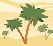 Palm trees with desert background Stock Photo