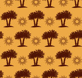Palm trees, desert seamless pattern Royalty Free Stock Photo