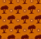 Palm trees, desert seamless pattern Stock Image