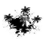 Palm Trees Grunge Vector Royalty Free Stock Photography