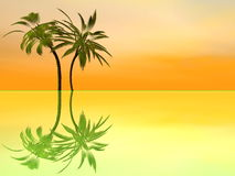 Palm trees holidays - 3D render Stock Photo