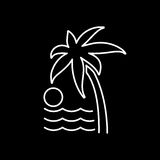 Palm trees icon. Beach chair and vacation icon vector illustrati Royalty Free Stock Image