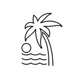 Palm trees icon. Beach chair and vacation icon vector  Stock Photo
