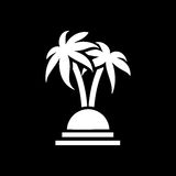 Palm trees icon. Beach and vacation icon vector illustration Royalty Free Stock Images
