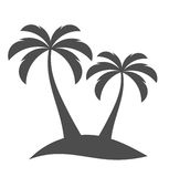 Palm trees on island Stock Photos