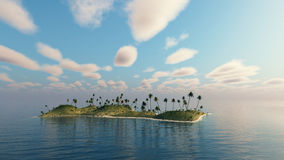 Palm trees on a island. Royalty Free Stock Photos