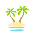 Palm trees on island Stock Photo