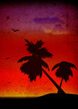 Palm-trees landscape Royalty Free Stock Photography