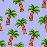 Palm trees on a light blue color. Illustrations seamless pattern stock illustration