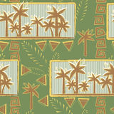 Palm trees pattern seamless Royalty Free Stock Image