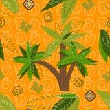 Palm trees pattern seamless Royalty Free Stock Photos