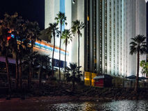 Palm Trees, resort hotel and the Colorado River Royalty Free Stock Photography