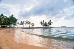 Palm trees by the sea. In Asia Stock Photography