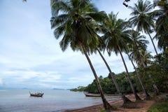 Palm trees and sea. At Koh Lanta island - Krabi Thailand Stock Image