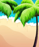 Palm trees, sea and sand Stock Images