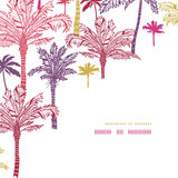 Palm trees seamless corner decor pattern Royalty Free Stock Image