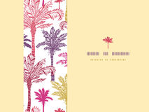Palm trees seamless horizontal decor pattern Royalty Free Stock Photography