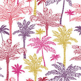 Palm trees seamless pattern background Royalty Free Stock Photography