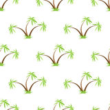 Palm trees seamless pattern Royalty Free Stock Photo