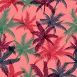 Palm trees seamless pattern. Vector illustration stock illustration