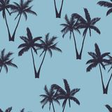 Palm trees seamless pattern. Vector illustration vector illustration