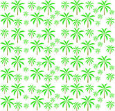 Palm trees seamless pattern. Vector illustration. Stock Images