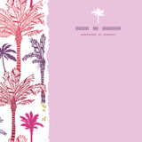 Palm trees seamless square torn pattern background Royalty Free Stock Photos