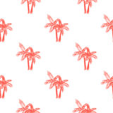 Palm trees seamless vector pattern. Stock Image