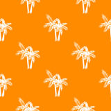 Palm trees seamless vector pattern. Royalty Free Stock Photo