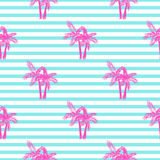 Palm trees seamless vector pattern. Stock Photography