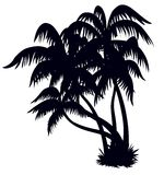 Palm trees silhouette stock illustration