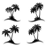 Palm Trees Silhouettes Stock Images