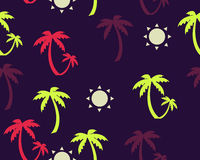Palm trees and sun background Royalty Free Stock Image