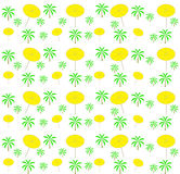Palm trees, umbrellas seamless pattern. Vector Stock Image