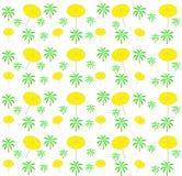 Palm trees, umbrellas seamless pattern. Vector. Illustration Stock Image