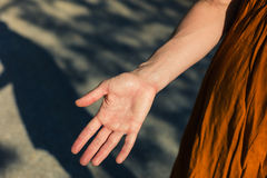 Palm of young woman's hand Royalty Free Stock Photography
