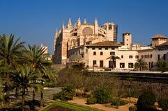 Palma, Majorca圣塔玛丽亚大教堂  免版税库存图片