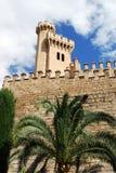 palma замока средневековое стоковая фотография rf