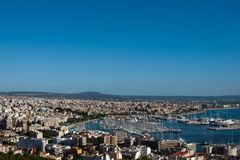 Palma. Formerly  de Mallorca is the major city and port on the island of Majorca Stock Photography