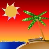 Palma-albero-isola Fotografia Stock