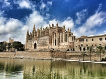 Palma. Catedral in Palma royalty free stock photo