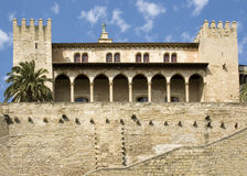 Palma Cathedral. And fortifications, Palma, Majorca Stock Photography