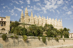 Palma Cathedral. And fortifications, Palma, Mallorca Stock Photos