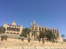 Palma Cathedral, España - terminada en 1601 encima de la ciudadela vieja imágenes de archivo libres de regalías