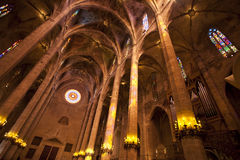Palma cathedral interior Stock Photo