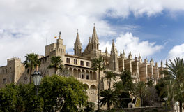 Palma Cathedral in Mallorca Spain Royalty Free Stock Photography