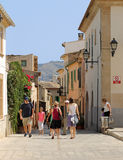 Palma city street scene Stock Photo