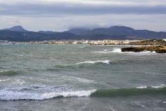 Palma cityline November Stock Photo