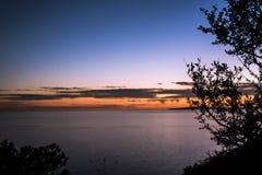 Palma de Maiorca, mar do por do sol da Espanha fotografia de stock
