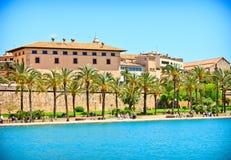 Palma de Majorca。 Mallorca。 西班牙 免版税库存图片